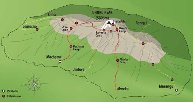 Machame Route 6 Days Kilimanjaro Climbing